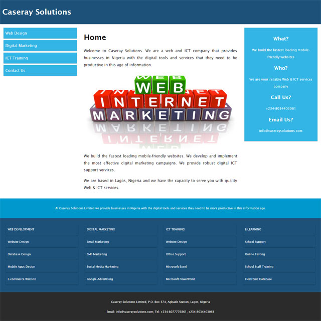 Caseray Solutions Limited website screenshot