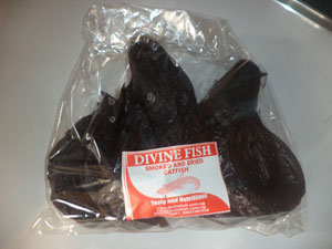One pack of tasty smoked and dried catfish