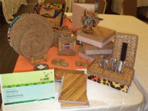 Beautiful craftwork on exhibit by Mitimeth