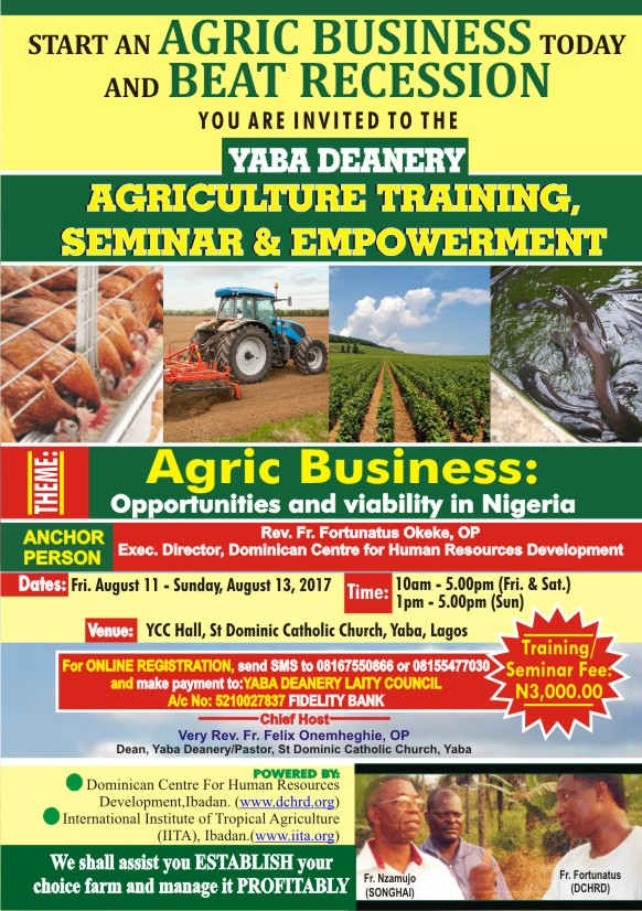 Agriculture Training Seminar and Empowerment Programme flyer