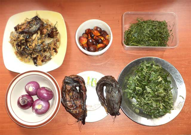 Banga (akwu) and other ingredients