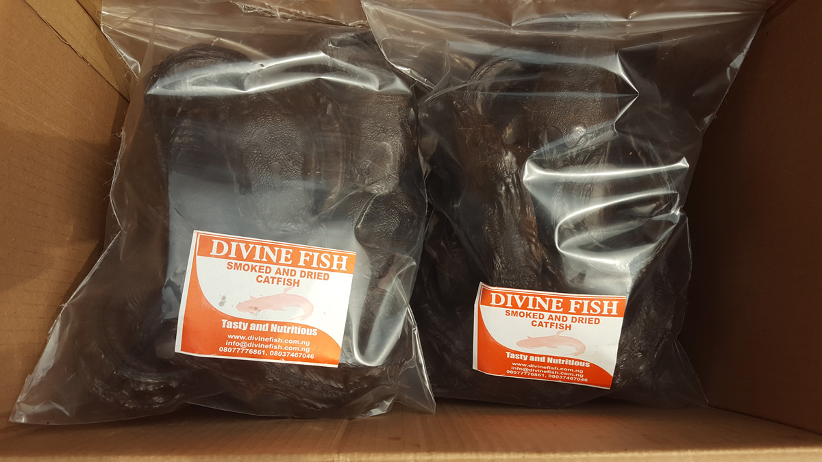 Two packs of dried catfish