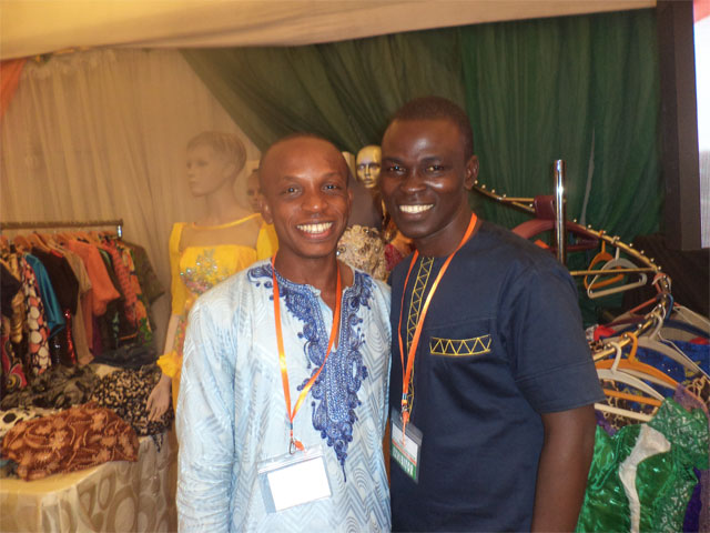 Ugochukwu Ukwuegbu of Divine Fish Farm and James Livinus of Yakason Shoes