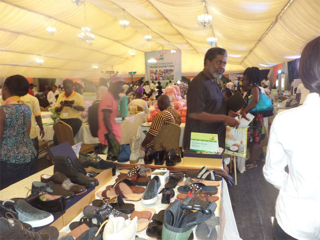 Busy exhibition hall at the Youwin Made in Nigeria Trade Exhibition