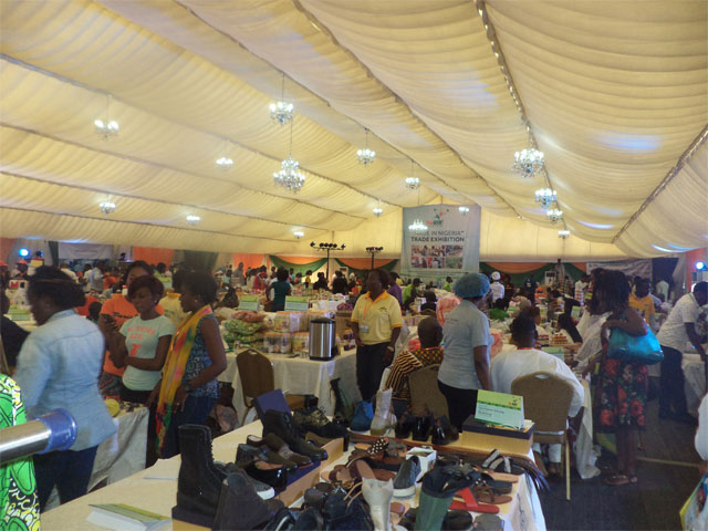 Cross-view of the exhibition hall at the first YouWiN! 'Made in Nigeria' Trade Exhibition